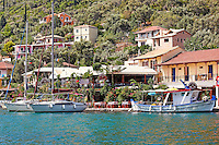 The village Syvota in Lefkada, Greece