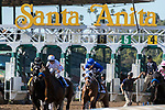 ARCADIA, CA FEBRUARY 4: The start of the Las Virgenes Stakes (Grade ll) on February 4, 2018, at Santa Anita Park, in Arcadia, Ca. (Photo by Casey Phillips/ Eclipse Sportswire/ Getty Images)