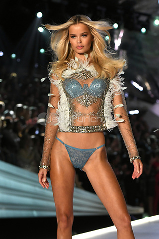 NEW YORK, NY - NOVEMBER 08: Frida Aasen at the 2018 Victoria's Secret Fashion Show at Pier 94 on November 8, 2018 in New York City. Credit: John Palmer/MediaPunch