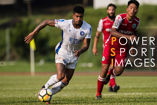 Bruno da Silva Sabino R&F F.C (L) in action during the week three Premier League match between Kwoon Chung Southern and R&F at Aberdeen Sports Ground on September 16, 2017 in Hong Kong, China. Photo by Marcio Rodrigo Machado / Power Sport Images