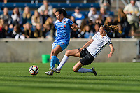 Bridgeview, IL - Sunday June 25, 2017: Vanessa DiBernardo, Sarah Killion during a regular season National Women's Soccer League (NWSL) match between the Chicago Red Stars and Sky Blue FC at Toyota Park. The Red Stars won 2-1.
