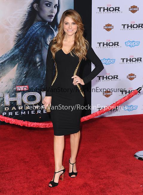 Hollywood, CA - NOVEMBER 04: Maria Menounos arrives to Marvel's  THOR: THE DARK WORLD Premiere held at El Capitan Theatre in Hollywood, California on November 04,2012                                                                               © 2013 Hollywood Press Agency