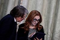 Roma,14 Marzo 2017<br /> Antonio Campo Dall'Orto, Direttore Generale della RAI e Monica Maggioni, Presidente.<br /> Presentazione della 25ma edizione delle 'Giornate Fai di Primavera' a Palazzo Chigi