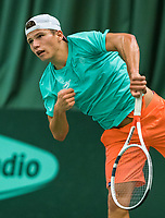 Wateringen, The Netherlands, March 16, 2018,  De Rhijenhof , NOJK 14/18 years, Nat. Junior Tennis Champ.  Yannick Verwater  (NED)<br />  Photo: www.tennisimages.com/Henk Koster