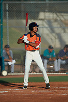 AZL Giants Orange Najee Gaskins (32) at bat during an Arizona League game against the AZL Mariners on July 18, 2019 at the Giants Baseball Complex in Scottsdale, Arizona. The AZL Giants Orange defeated the AZL Mariners 7-4. (Zachary Lucy/Four Seam Images)