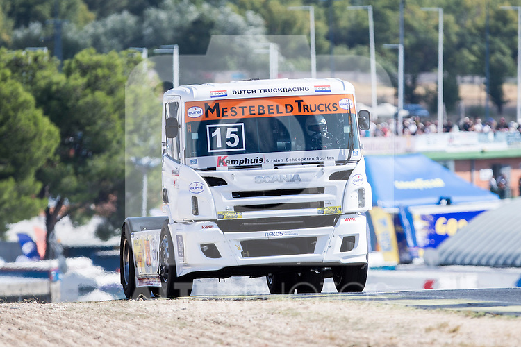 Dutch driver Erwin Klein Nagelvoort belonging Dutch team Erwin Klein Nagelvoort  during the fist race R1 of the XXX Spain GP Camion of the FIA European Truck Racing Championship 2016 in Madrid. October 01, 2016. (ALTERPHOTOS/Rodrigo Jimenez)