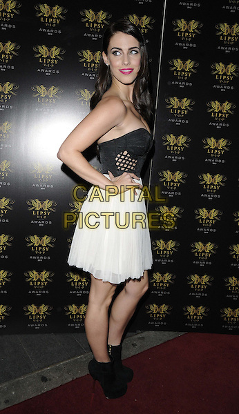 Jessica Lowndes<br /> The Lipsy VIP Fashion Awards 2013, DSTRKT, Rupert St., London, England.<br /> May 29th, 2013<br /> full length black strapless top cleavage skirt white hand on hip boots ankle side<br /> CAP/CAN<br /> &copy;Can Nguyen/Capital Pictures