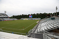 Cary, North Carolina  - Wednesday May 24, 2017: view from the northwest corner of Sahlen's Stadium Box Office prior to a regular season National Women's Soccer League (NWSL) match between the North Carolina Courage and the Sky Blue FC at Sahlen's Stadium at WakeMed Soccer Park. The Courage won the game 2-0.