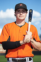 Frederick Keys second baseman Preston Palmeiro (7) poses for a photo prior to the game against the Buies Creek Astros at Jim Perry Stadium on April 28, 2018 in Buies Creek, North Carolina. The Astros defeated the Keys 9-4.  (Brian Westerholt/Four Seam Images)
