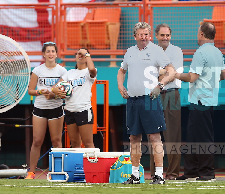 England's Roy Hodgson looks on dejected<br /> <br /> England vs Honduras  - International Friendly - Sun Life Stadium - Miami - USA - 07/06/2014  - Pic David Klein/Sportimage