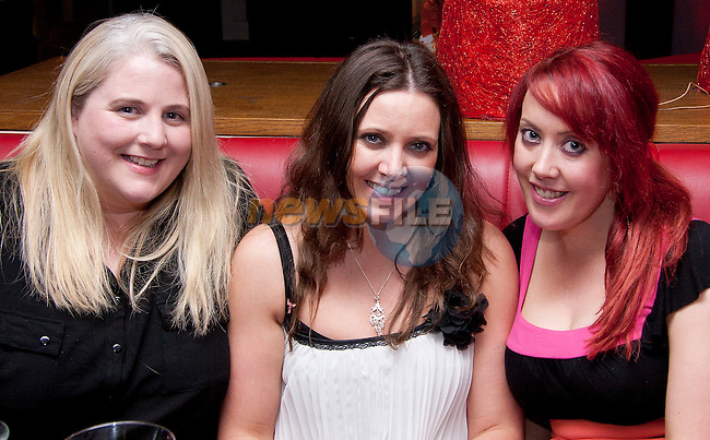 Adeline McCarthy, Emma Marshall and Annmarie Kerr in Bru for a night out..Picture: Shane Maguire / www.newsfile.ie.