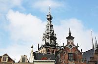 Nederland Nijmegen 2016 02 25. De toren van de Stevenskerk bij de Grote Markt.  Foto Berlinda van Dam / Hollandse Hoogte