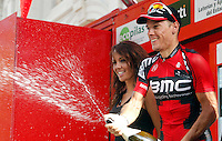 Philippe Gilbert celebrates the victory in the stage of La Vuelta 2012 between Andorra  and Barcelona.August 26,2012. (ALTERPHOTOS/Paola Otero) /NortePhoto.com<br /> <br /> **CREDITO*OBLIGATORIO** <br /> *No*Venta*A*Terceros*<br /> *No*Sale*So*third*<br /> *** No*Se*Permite*Hacer*Archivo**<br /> *No*Sale*So*third*