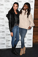 Lorraine Pascal and daughter<br /> arriving for the Natural History Museum Ice Rink launch party 2017, London<br /> <br /> <br /> ©Ash Knotek  D3340  25/10/2017