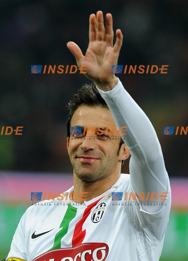 "Alessandro DEL PIERO (Juventus).Milano 8/02/2012 Stadio ""Giuseppe Meazza"".Coppa Italia 2011/2012.Football Calcio Milan Vs Juventus.Foto Insidefoto Alessandro Sabattini."