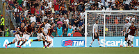Calcio, Serie A: Roma vs Juventus. Roma, stadio Olimpico, 30 agosto 2015.<br /> Roma&rsquo;s Miralem Pjanic, center, celebrates after scoring on a free kick during the Italian Serie A football match between Roma and Juventus at Rome's Olympic stadium, 30 August 2015.<br /> UPDATE IMAGES PRESS/Isabella Bonotto