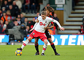 3rd December 2017, Vitality Stadium, Bournemouth, England; EPL Premier League football, Bournemouth versus Southampton; Steven Davis of Southampton is tackled by Nathan Ake of Bournemouth