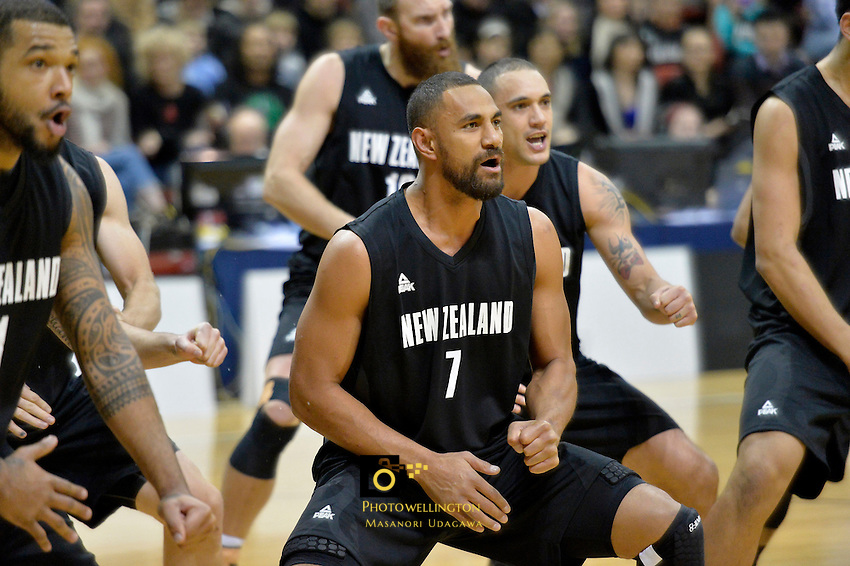 Mika Vukona in action during the International Basketball - Tall Blacks v South Korea at TSB Bank Arena, Wellington, New Zealand on Tuesday 15 July 2014. <br /> Photo by Masanori Udagawa. <br /> www.photowellington.photoshelter.com.