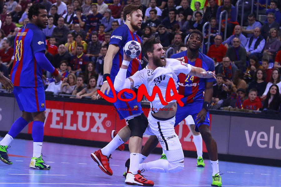 03.12.2016 Barcelona. EHF Champions League Group Phase. Picture show Luka Karabatic in action during game between FC Barcelona Lassa against Paris Saint-Germain at Palau Blaugrana