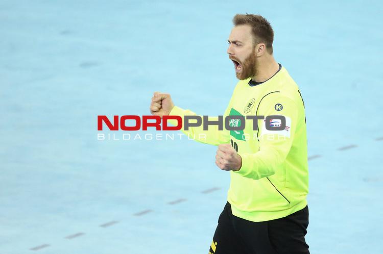 13.01.2018., Croatia, Arena Zagreb, Zagreb - European Handball Championship, Group C, Round 1, Germany - Montenegro.  WOLFF Andreas <br /> <br /> Foto &copy; nordphoto / Sanjin Strukic/PIXSELL