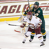Rob Madore (Vermont - 29), Brooks Dyroff (BC - 14), Dan Lawson (Vermont - 28) - The Boston College Eagles defeated the visiting University of Vermont Catamounts 6-0 on Sunday, November 28, 2010, at Conte Forum in Chestnut Hill, Massachusetts.