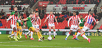 Preston North End's Alan Browne scores his team's opening goal<br /> <br /> Photographer Dave Howarth/CameraSport<br /> <br /> The EFL Sky Bet Championship - Stoke City v Preston North End - Wednesday 12th February 2020 - bet365 Stadium - Stoke-on-Trent <br /> <br /> World Copyright © 2020 CameraSport. All rights reserved. 43 Linden Ave. Countesthorpe. Leicester. England. LE8 5PG - Tel: +44 (0) 116 277 4147 - admin@camerasport.com - www.camerasport.com