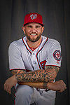 22 February 2019: Washington Nationals first baseman Matt Adams poses for his Photo Day portrait at the Ballpark of the Palm Beaches in West Palm Beach, Florida. Mandatory Credit: Ed Wolfstein Photo *** RAW (NEF) Image File Available ***