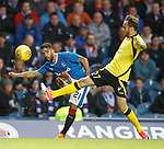Daniel Candeias crosses from the wing