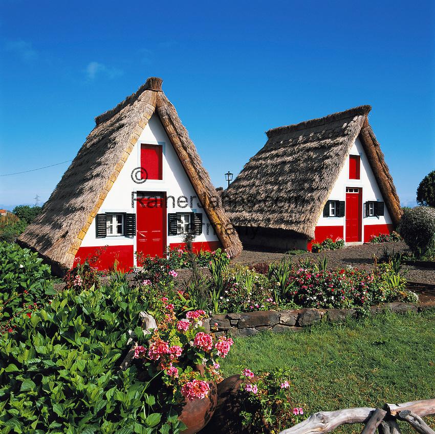 Portugal, Madeira, Santana: Casas de Colmo - Traditional Houses | Portugal, Madeira, Santana: Casas de Colmo