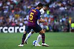 UEFA Champions League 2018/2019 - Matchday 1.<br /> FC Barcelona vs PSV Eindhoven: 4-0.<br /> Sergio Busquets vs Gaston Pereiro.
