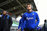 Zach Mercer and the rest of the Bath Rugby team arrive at the stadium. Aviva Premiership match, between Harlequins and Bath Rugby on March 2, 2018 at the Twickenham Stoop in London, England. Photo by: Patrick Khachfe / Onside Images