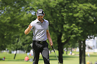 Charl Schwartzel (RSA) sinks his putt on the 10th green during Saturday's Round 3 of the WGC Bridgestone Invitational 2017 held at Firestone Country Club, Akron, USA. 5th August 2017.<br /> Picture: Eoin Clarke | Golffile<br /> <br /> <br /> All photos usage must carry mandatory copyright credit (&copy; Golffile | Eoin Clarke)