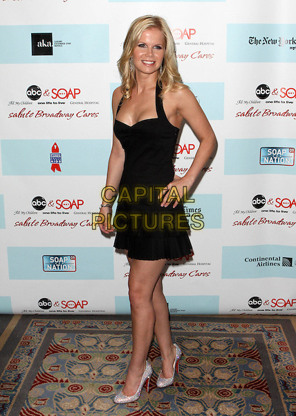 CRYSTAL HUNT.5th Annual ABC & SOAPnet salute Broadway Cares/Equity Fights AIDS Benefit held at Marriott Marquis New York City, New York, NY, USA..March 9th, 2009.full length black dress hand on hip halterneck .CAP/ADM/PZ.©Paul Zimmerman/AdMedia/Capital Pictures.
