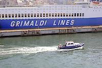 - porto di  Genova, traghetto della compagnia Grimaldi Lines....- Genoa port, ferry of Grimaldi Lines company