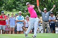 Jon Rahm (ESP) watches his tee shot on 7 during round 3 of the Dean &amp; Deluca Invitational, at The Colonial, Ft. Worth, Texas, USA. 5/27/2017.<br /> Picture: Golffile | Ken Murray<br /> <br /> <br /> All photo usage must carry mandatory copyright credit (&copy; Golffile | Ken Murray)