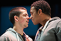 London, UK. 26.04.2013. Rikki Beadle-Blair's new play, GUTTED, opens at Theatre Royal Stratford East. Set in South East London, this is a play about love, family and sordid secrets, told through the eyes of four brothers. The cast comprises: Ashley Campbell, Jennifer Daley, James Farrar, Frankie Fitzgerald, Sasha Frost, Louise Jameson, Gavin McCluskey, Dominique Moore and Jamie Nicholls. Rikkie Beadle-Blair is writer, director, set and costume designer. Lighting design by Michael Nabarro. Photograph © Jane Hobson.