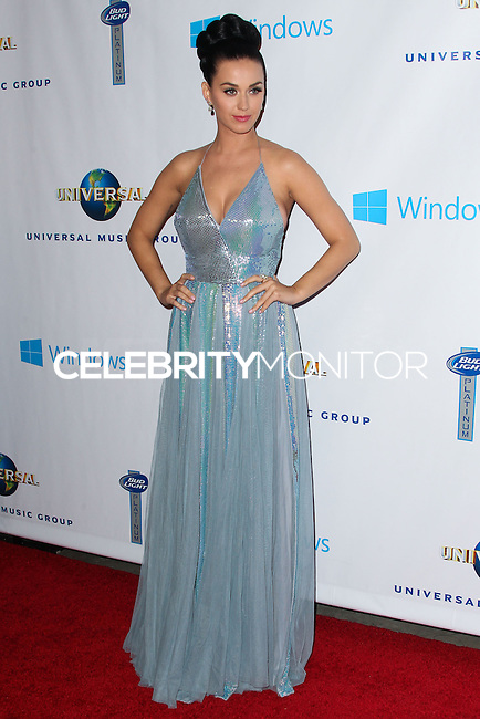 LOS ANGELES, CA - JANUARY 26: Singer Katy Perry arrives at the Universal Music Group 2014 GRAMMY Awards Party held at Ace Hotel on January 26, 2014 in Los Angeles, California. (Photo by Xavier Collin/Celebrity Monitor)