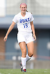 24 August 2012: Duke's Kara Wilson. The Duke University Blue Devils defeated the University of Montreal Caribins 4-1 at Fetzer Field in Chapel Hill, North Carolina in an international women's collegiate friendly game.