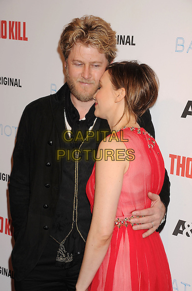 LOS ANGELES, CA- FEBRUARY 26: Actress Vera Farmiga (R) and her husband Renn Hawkey arrive at the premiere party for A&amp;E's Season 2 of 'Bates Motel' and the series premiere of 'Those Who Kill' at Warwick on February 26, 2014 in Los Angeles, California.<br /> CAP/ROT/TM<br /> &copy;Tony Michaels/Roth Stock/Capital Pictures