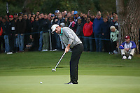 Richard Bland (ENG) putting out on the last during the Final Round of the British Masters 2015 supported by SkySports played on the Marquess Course at Woburn Golf Club, Little Brickhill, Milton Keynes, England.  11/10/2015. Picture: Golffile | David Lloyd<br /> <br /> All photos usage must carry mandatory copyright credit (&copy; Golffile | David Lloyd)