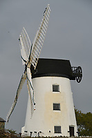 Pictured: The Melin Llynon windmill in north Wales, UK.<br /> Re: A new operator is needed for Wales' last working windmill to keep the popular tourist attraction open.<br /> Anglesey council is trying to offload the running of the 18th Century Melin Llynnon in a bid to cut costs.<br /> Sitting tenants are running the mill's shop and cafe in the village of Llanddeusant.<br /> The council approved a one-off payment of £40,000 to keep the attraction open for 2018, although its long-term future remains uncertain.<br /> The windmill, built in 1775 near Bodedern, was restored during the early 1980s by the then Ynys Mon Borough Council, according to the Local Democracy Reporting Service.<br /> While there were once more than 30 working windmills on Anglesey, all had fallen into disrepair by the early 20th Century.