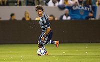 Carson, CA - Saturday, April 18, 2015: The LA Galaxy defeated Sporting KC 2-1 in a Major League Soccer (MLS) game at StubHub Center.