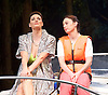Way Up Stream <br /> by Alan Ayckbourn <br /> <br /> at The Festival Theatre Chichester, Great Britain <br /> <br /> 27th April 2015 <br /> <br /> Press photocall <br /> <br /> Jill Halfpenny as Emma <br /> Sarah Parish as June <br /> <br /> Photograph by Elliott Franks <br /> Image licensed to Elliott Franks Photography Services