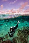 SCUBA diver, Kurpak Seamount, Indonesia