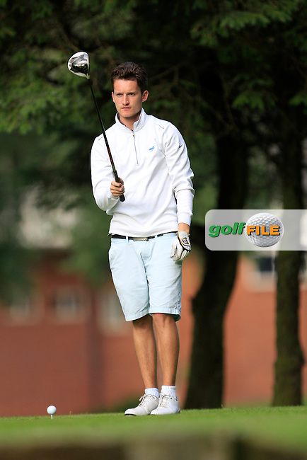 Harry Scott (Castle) on the 12th tee during round 1 of the Ulster Youths Amateur Open Championship in Balmoral Golf Club on Tuesday 5th August 2014.<br /> Picture:  Thos Caffrey / www.golffile.ie