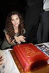 Alicia Minshew and AMC cake at All My Children's Good Night Pine Valley was held on September 17, 2011 at Prohibition, New York City, New York.  (Photo by Sue Coflin/Max Photos)