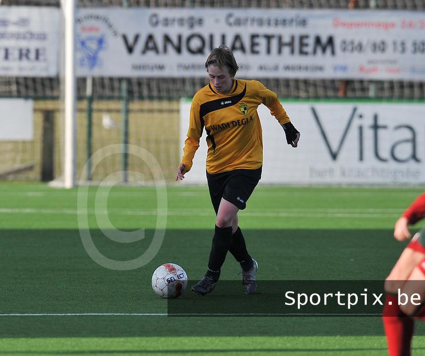 Dames Zulte Waregem - SK Lierse WD : Caroline Berrens.foto DAVID CATRY / Vrouwenteam.be