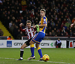 Stefan Scougall of Sheffield Utd during the English League One match at the Bramall Lane Stadium, Sheffield. Picture date: November 19th, 2016. Pic Simon Bellis/Sportimage