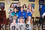 TROPIES: Girls of the Kerins O'Rahillys Community Games who were presented with their tropies and medallions on Friday evening at the Kerins O'Rahilly's GAA Club, Strand Road, Tralee. Front l-r: Amy Mcloughlin, Clodagh Moore and Brid Curtin. Seated l-r: Rachel Browne, Karen O'Connor and Jennifer Power. Back l-r: Una Nolan, Lisa Keane, Claire Goodall and Angela O'Brien..
