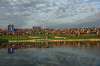 General view of 1st green during the Friday Fourballs at the Ryder Cup, Le Golf National, Paris, France. 27/09/2018.<br /> Picture Phil Inglis / Golffile.ie<br /> <br /> All photo usage must carry mandatory copyright credit (© Golffile | Phil Inglis)